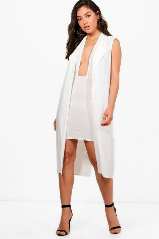 Bea Slinky Halter Dress & Duster Co-ord