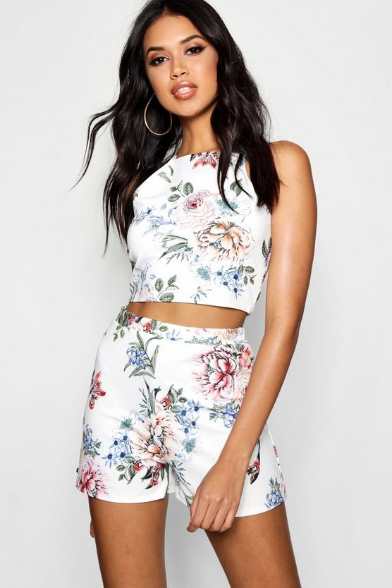 Penny Floral Crop & Shorts Co-ord Set