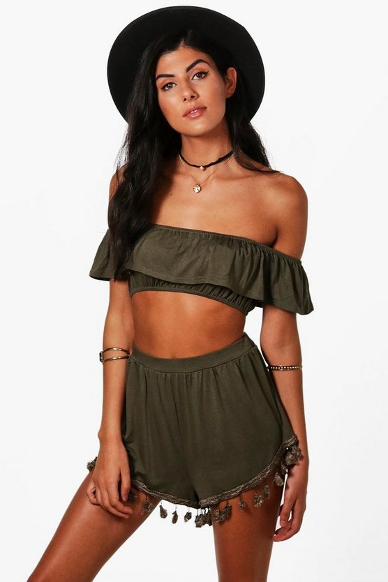 Ola Pom Pom Shorts & Crop Co-ord Set