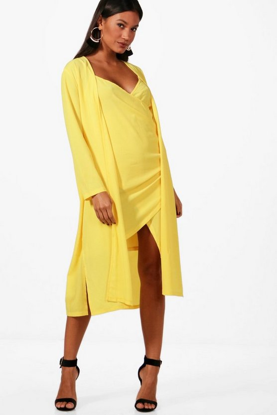 Betsy Woven Wrap Dress & Duster Co-ord