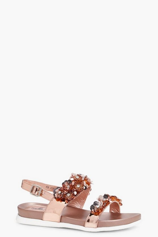 Holly Flower Embellished Sandal
