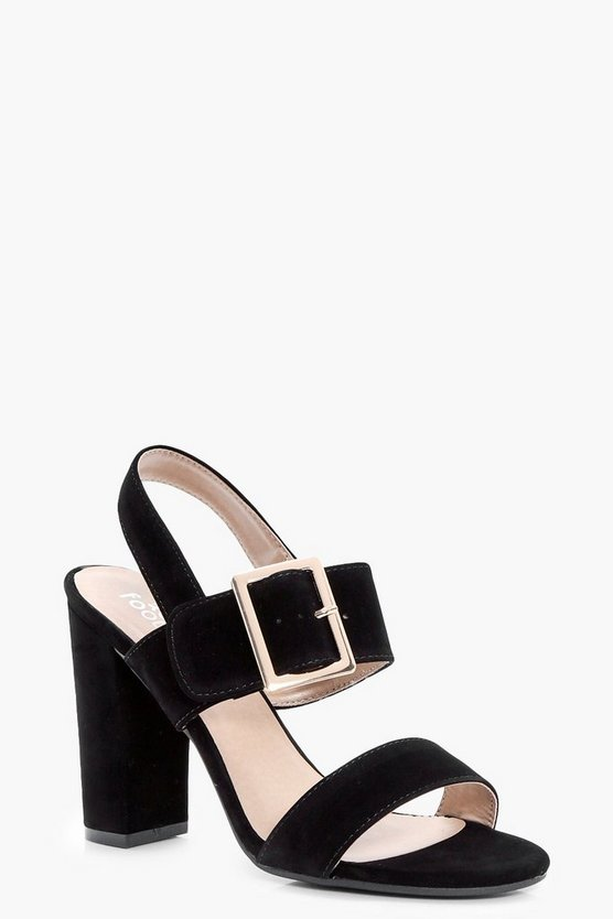 Alice Buckle Detail Block Heel