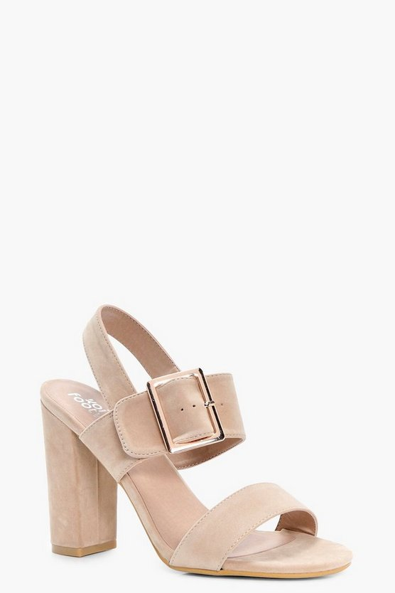 Alice Buckle Detail Block Heels