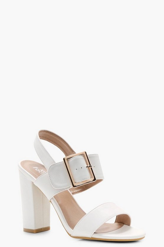 Sophia Buckle Detail Block Heels
