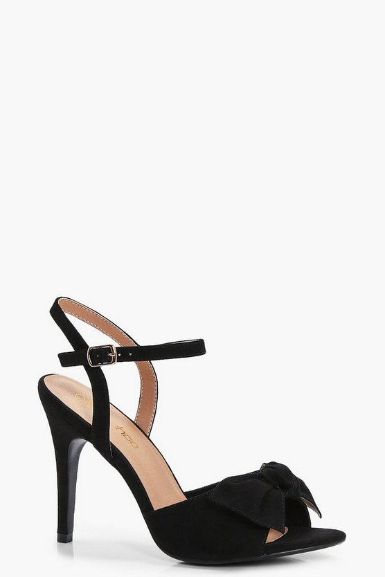 Emily Wide Fit Bow Trim Heels