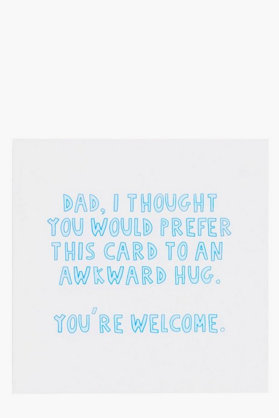Awkward Fathers Day Card