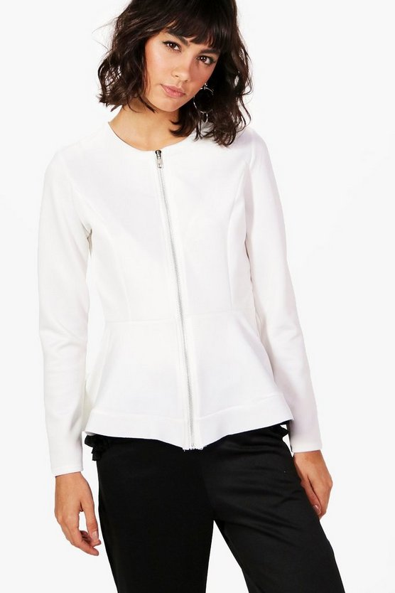 Gracie Zip Up Peplum Jacket