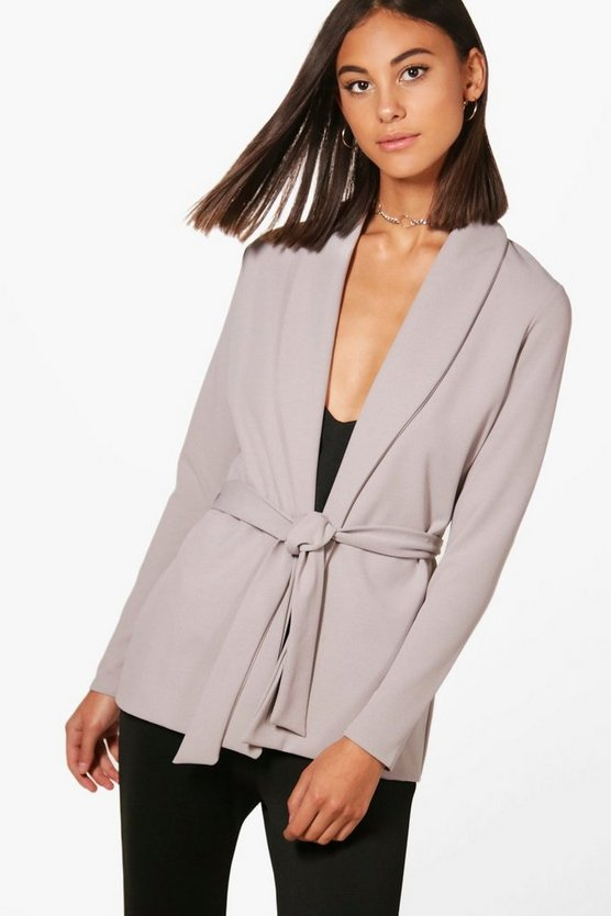 Olivia Tailored Collared Belted Blazer