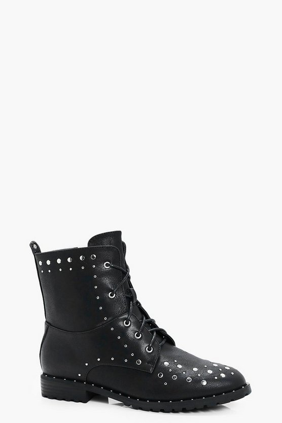 Anna Stud Trim Hiker Boot