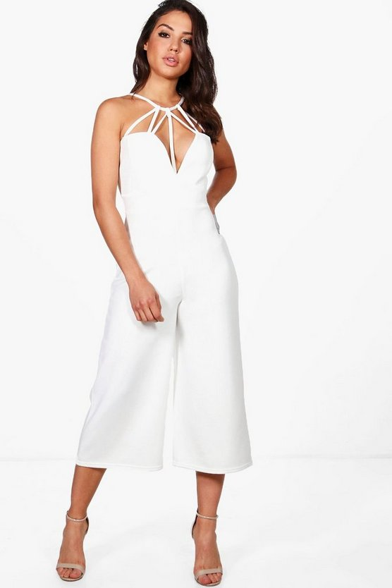 Lyra Strappy Front Culotte Leg Jumpsuit