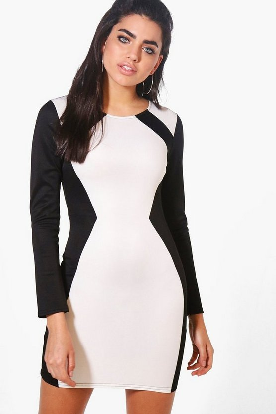 Rebecca Contrast Tailored Dress