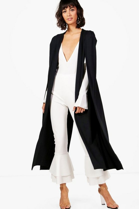 Elsa Split Back Maxi Cape