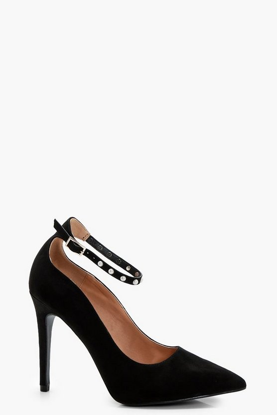 Dani Pearl Trim Ankle Band Court Shoe