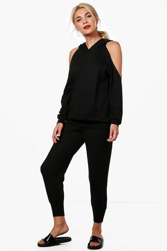 Grace Cold Shoulder Hoody Knitted Lounge Set
