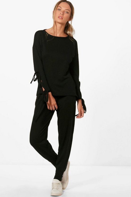 Heather Lace Up Jumper Knitted Lounge Set