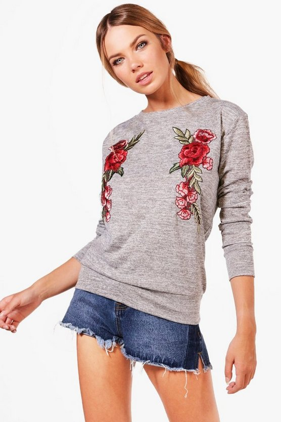 Jenny Floral Embroidered Jumper