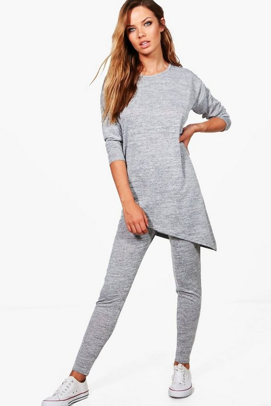 Olivia Asymmetric Hem Knitted Lounge Set