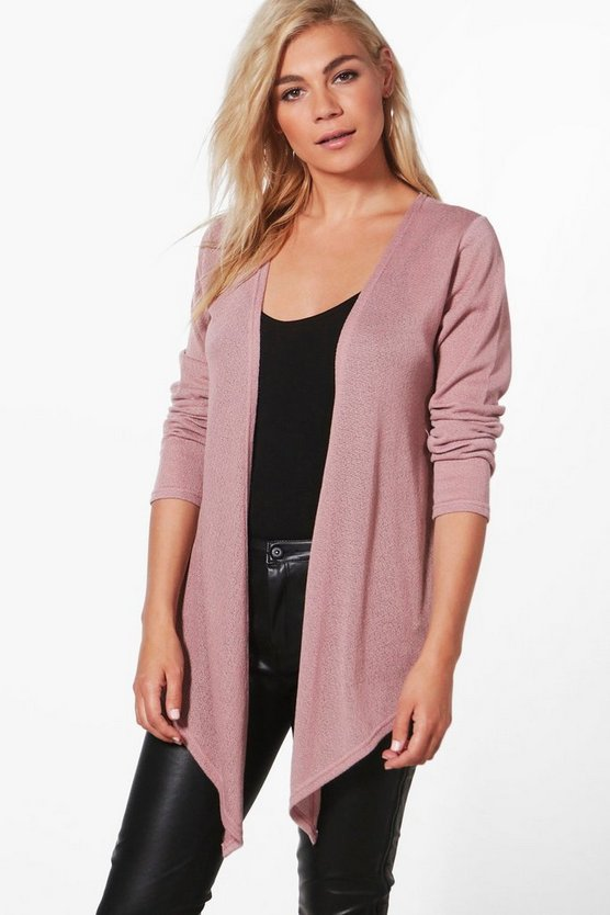 Cara Soft Knit Waterfall Cardigan