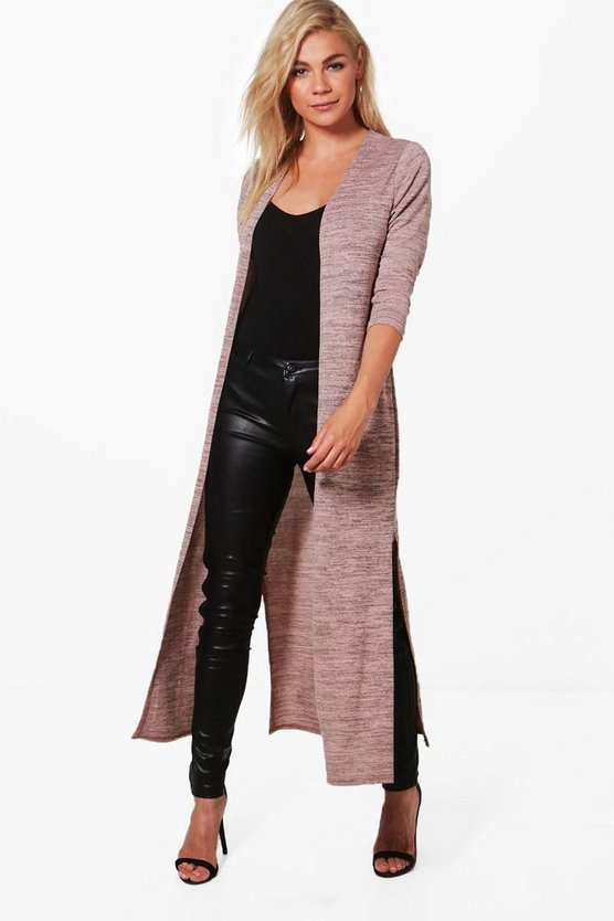 Emily Side Split Maxi Cardigan