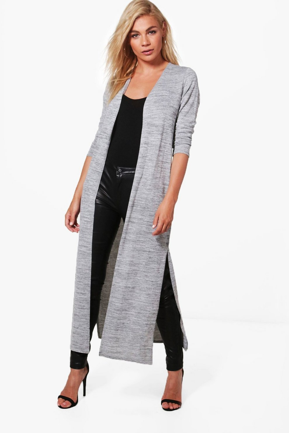 Emily Side Split Maxi Cardigan | Boohoo