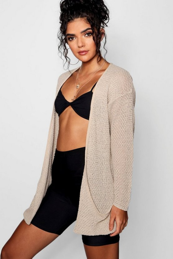 Loose Knit Slouchy Pocket Cardigan