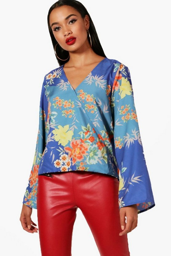 Jennie Floral Wrap Blouse