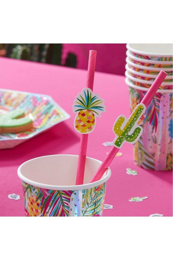 Tropical Paper Straws