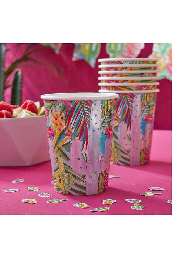 Tropical Paper Cups