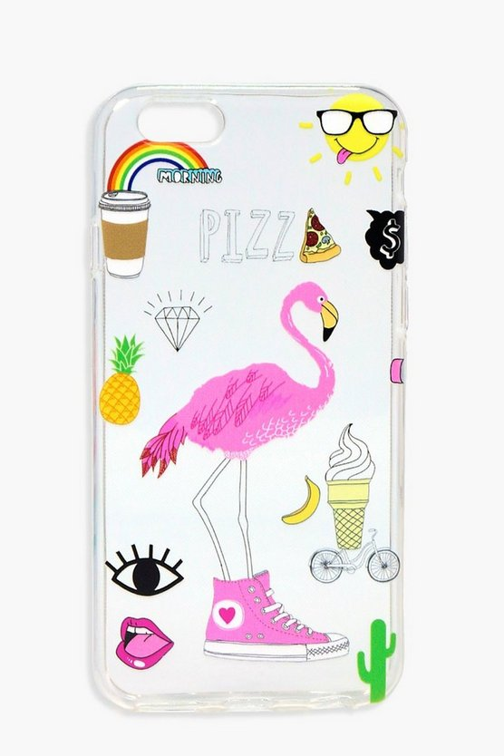 Flamingo & Icons iPhone 6 Case
