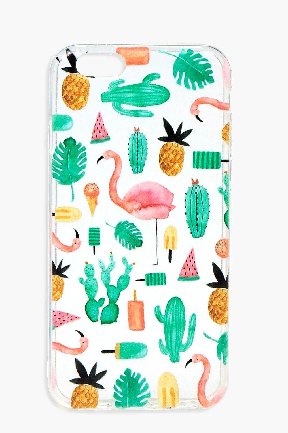 & Cactus iPhone 6 Case - multi - Flamingo & Cactus