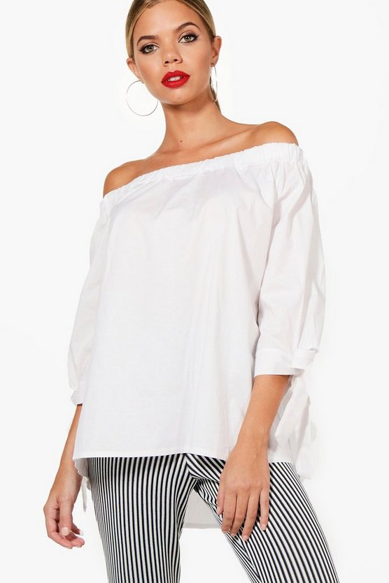 Ria Woven Off The Shoulder Top
