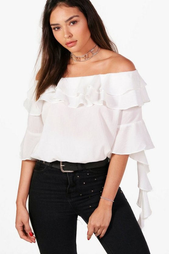 Off The Shoulder Ruffle Blouse