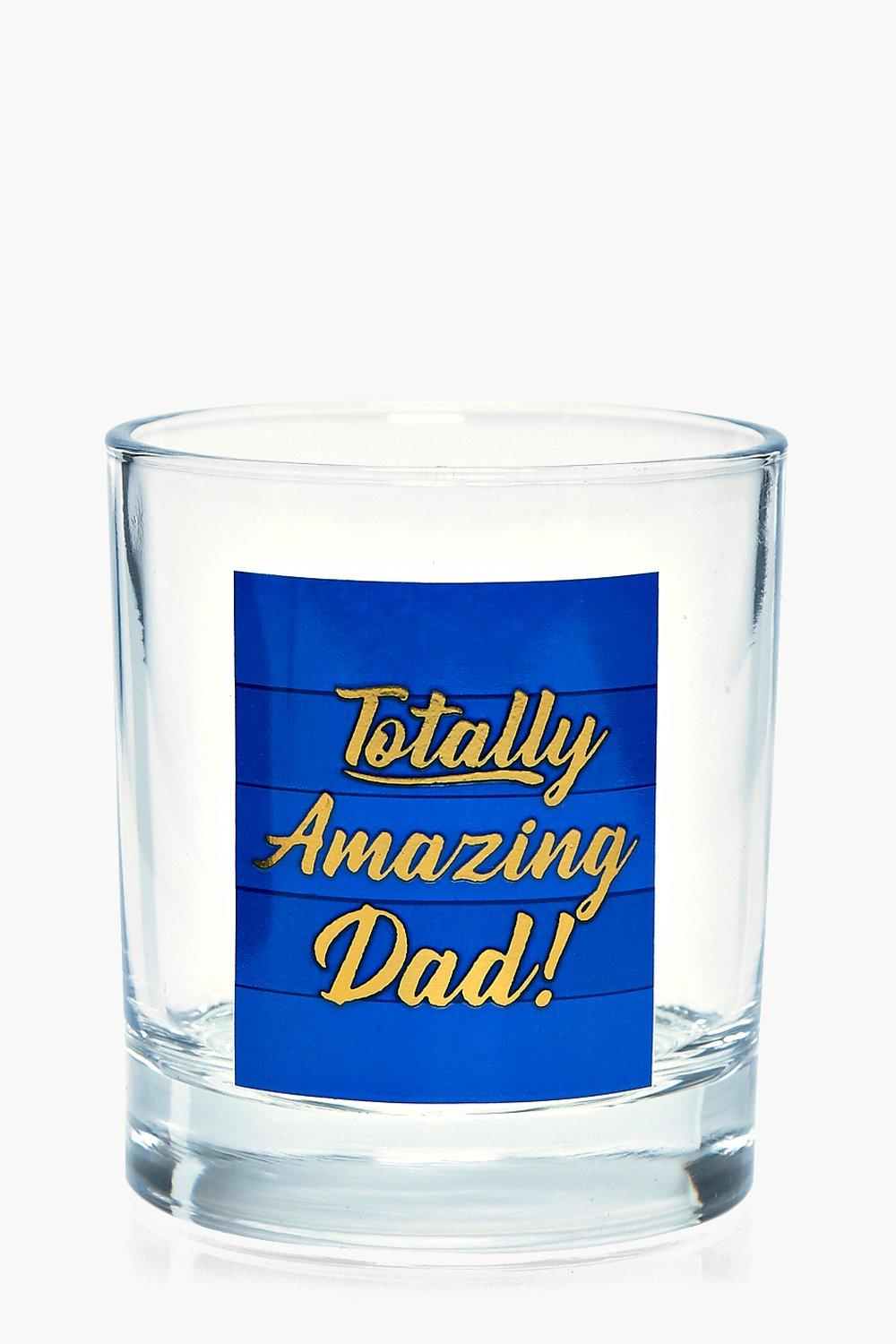 Dad Whiskey Glass - blue