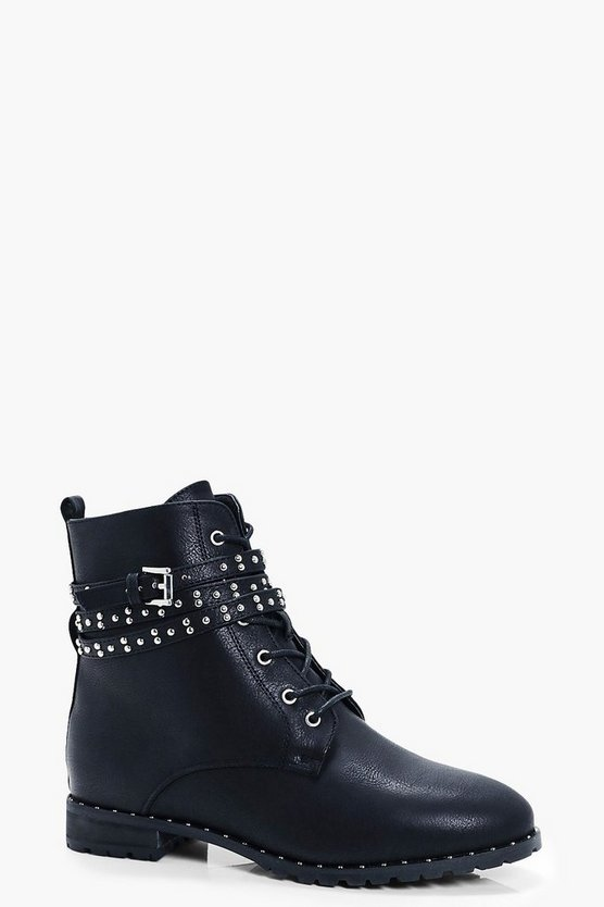 Alice Pin Stud Hiker Boots