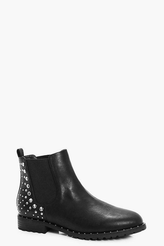 Jessica Stud Trim Chelsea Ankle Boots