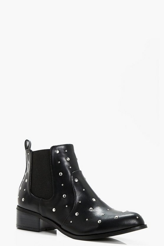 Millie Stud Trim Chelsea Boot