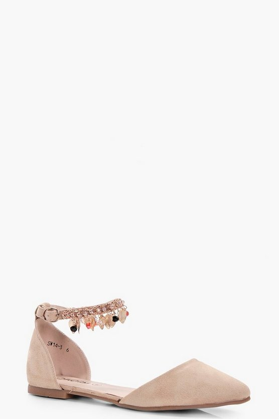 Nora Embellished Pointed Flats