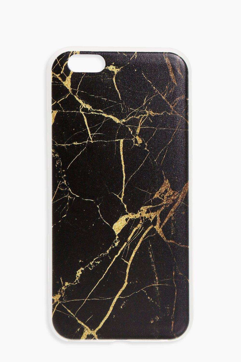 iPhone 6 Case - black - Marbled iPhone 6 Case - bl
