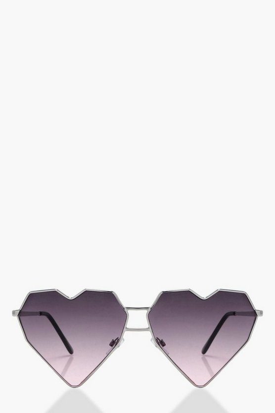 Macie Angular Heart Shaped Sunglasses
