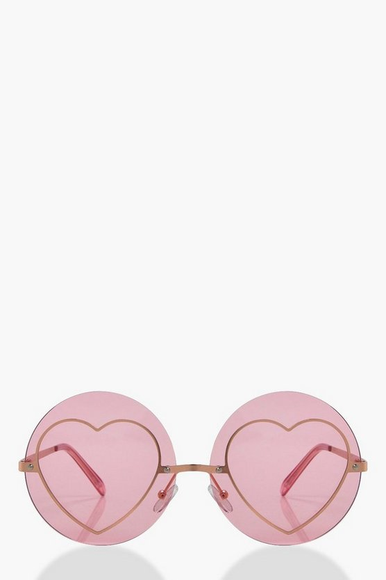 Scarlet Coloured Heart Sunglasses