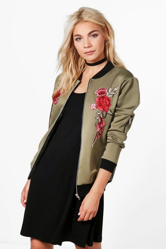 Joanna Embroidered Bomber Jacket
