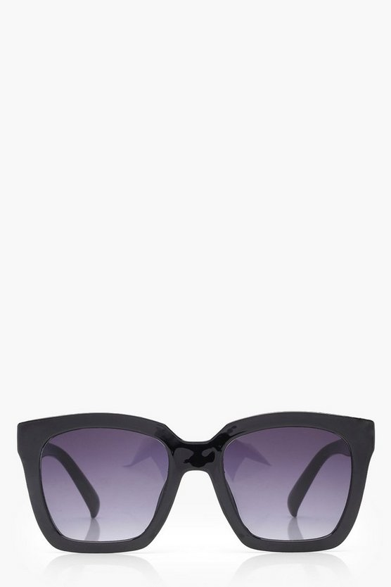 Julia Thick Frame Clear Sunglasses
