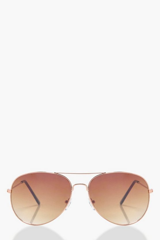 Charlotte Brown Tint Aviator Sunglasses