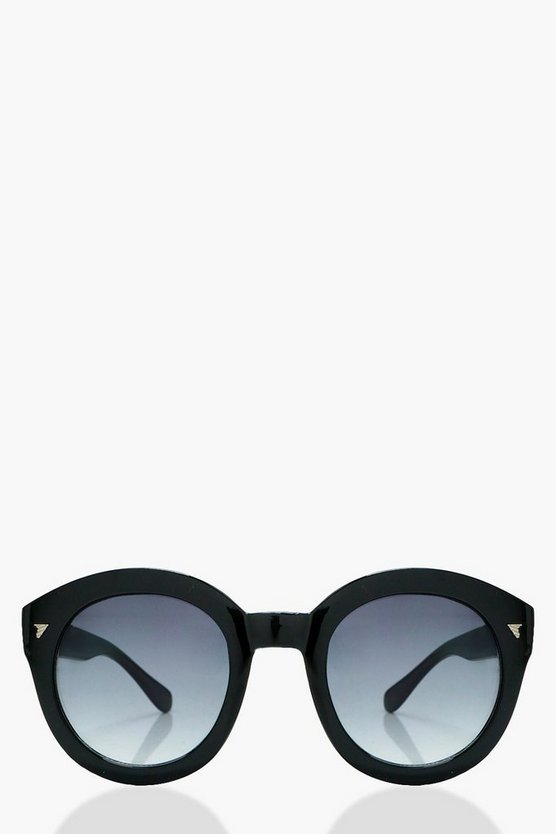Rosie Black Frame Oversized Sunglasses