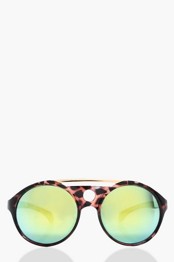 Anna Brow Bar Rounded Sunglasses