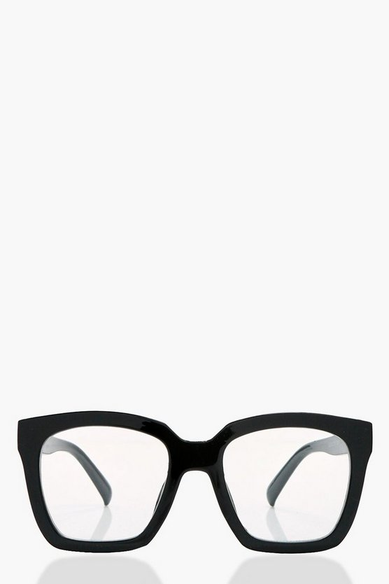 Isabel Black Frame Clear Fashion Glasses