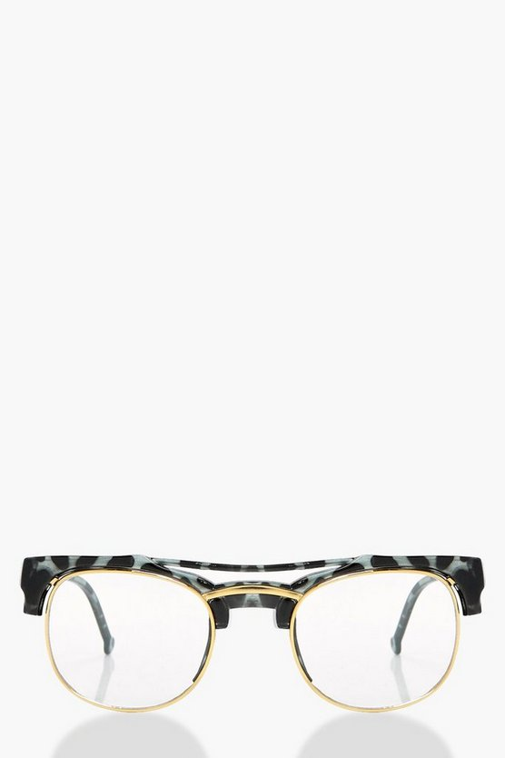 Millie Tortoiseshell Clear Fashion Glasses