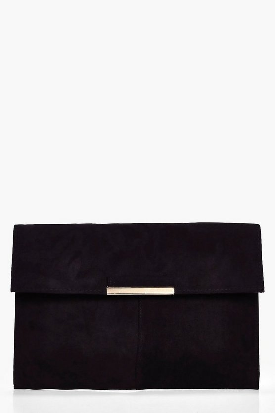 Lily Metal Trim Envelope Clutch Bag