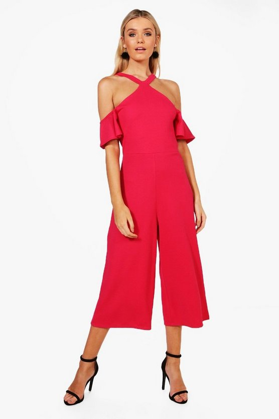 Julieta Cold Shoulder Culotte Jumpsuit