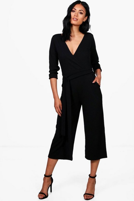 Raquel Roll Sleeve Culotte Jumpsuit